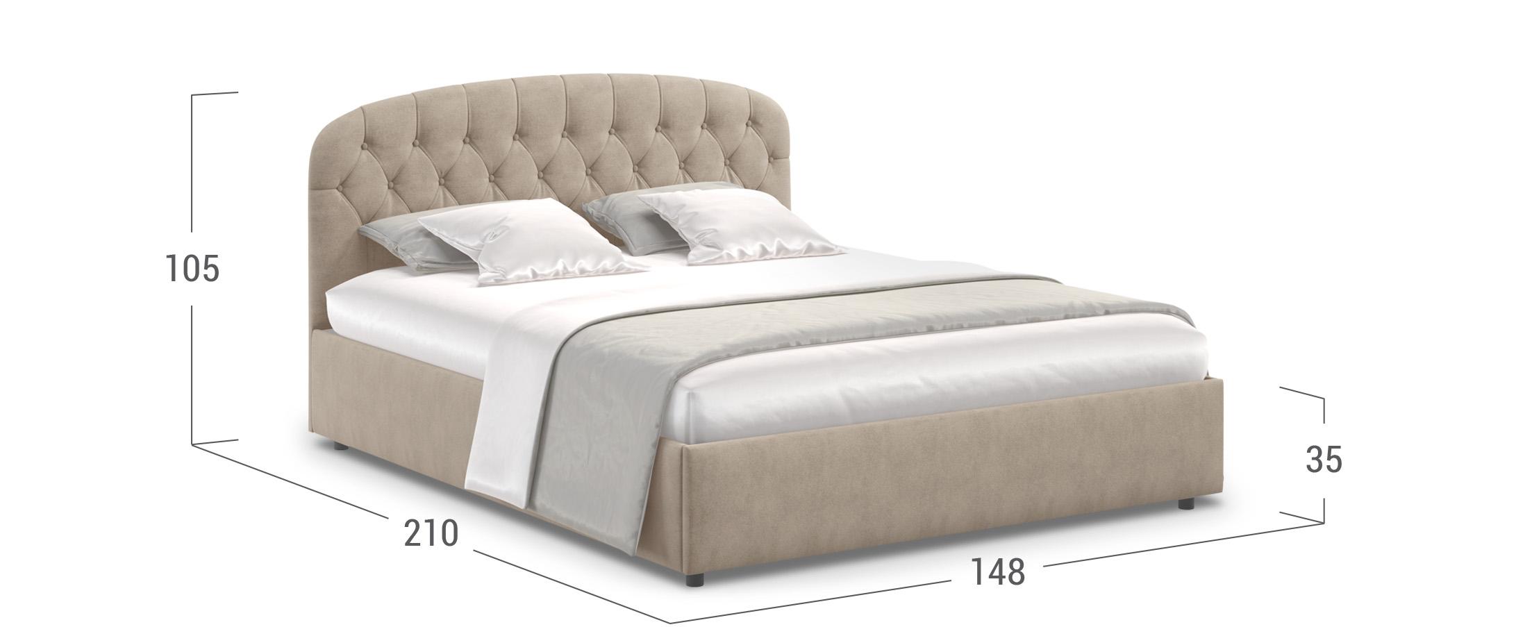Кровать двуспальная Бьянка 140х200 Модель 1207